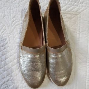 Gold/Silver Frye Shoes